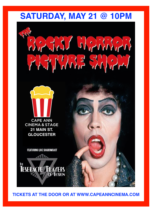 "LATE NIGHT MOVIE EVENT - ""The Rocky Horror Picture Show"" (with live shadow cast!) - Sat. May 21 @ 10pm"